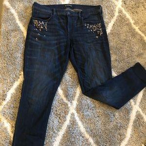Express Embellished Jeans